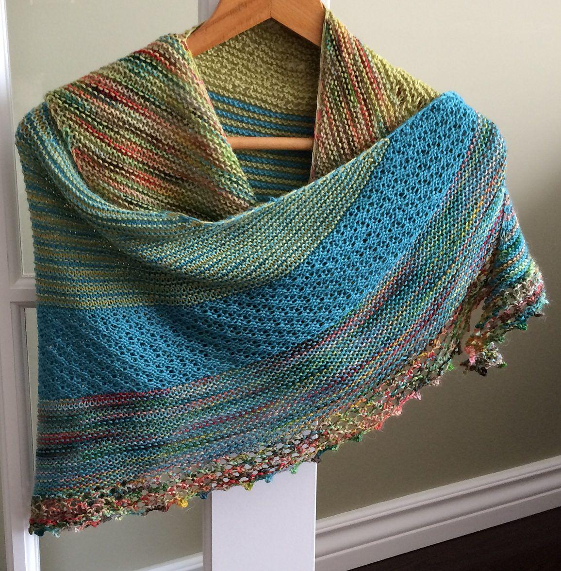 Colorful Shawl Knitting Patterns | Ticking stripe, Lace patterns and ...