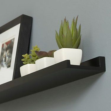 Floating Photo Ledge 24 In 48 In Wide Wall Shelf Photo Ledge Ledge Decor Picture Shelves