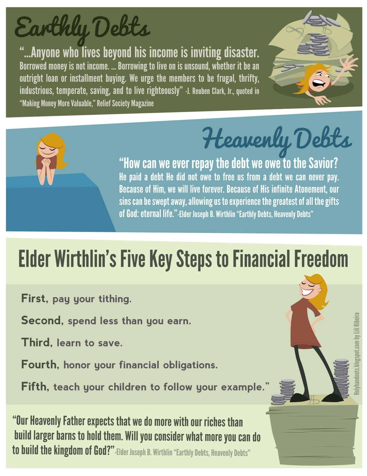 Holy Handouts Young Women Lesson 46 Money Management