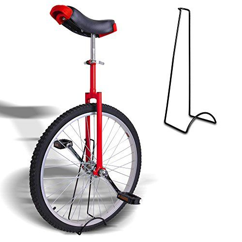 "24"" Wheel Unicycle w/ Stand Skid Proof Moutain Tire Chrome Uni-cycle Cycling Bike Red - http://www.bicyclestoredirect.com/24-wheel-unicycle-w-stand-skid-proof-moutain-tire-chrome-uni-cycle-cycling-bike-red/"