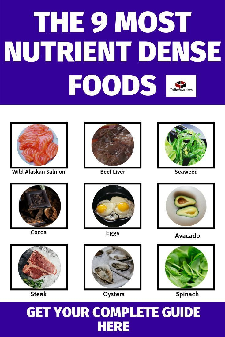 9 Most Nutrient Dense Foods Nutrient dense food, Most