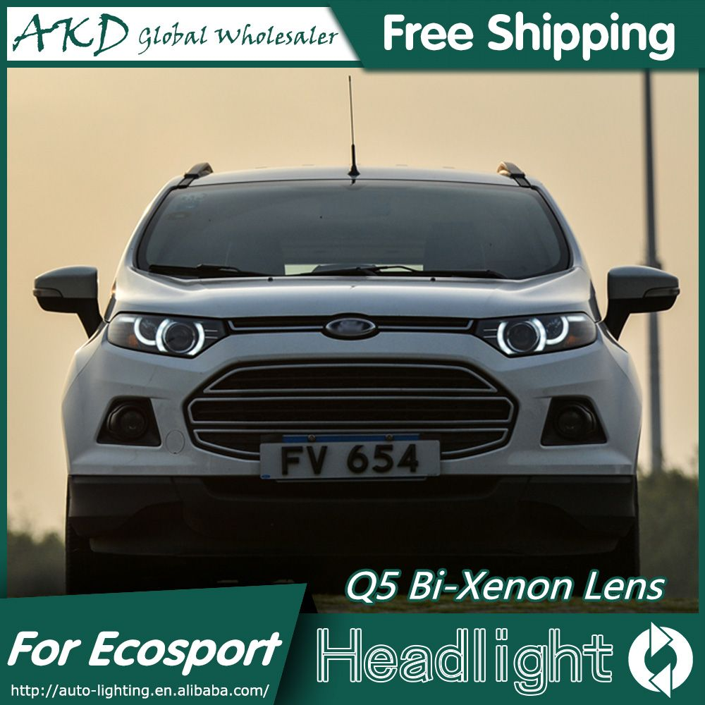 Akd Car Styling For Ford Ecosport Headlights New Evoque Desgin Led