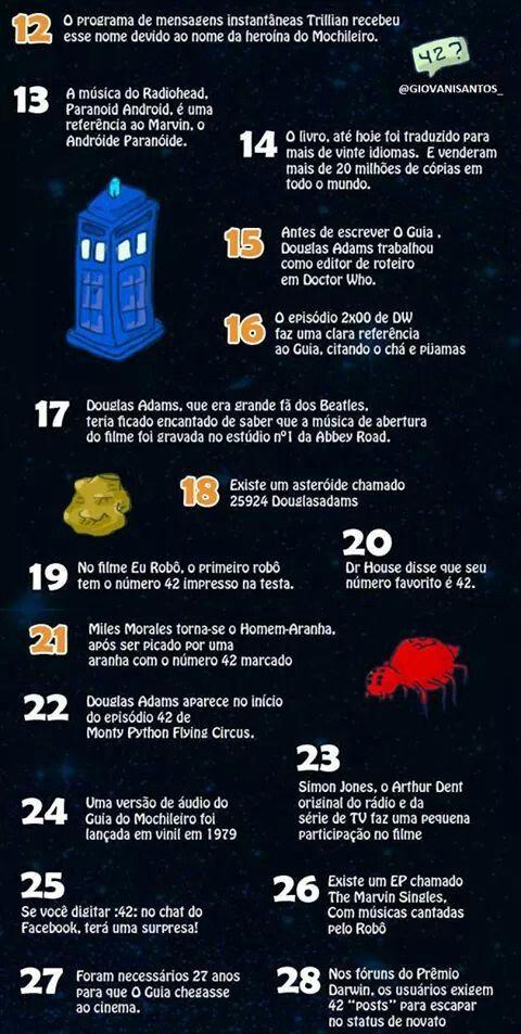 Tag 42 Fatos Sobre O Guia Do Mochileiro Das Galaxias
