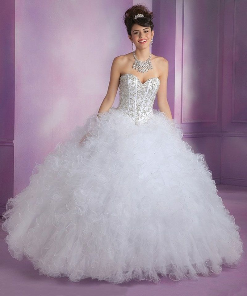 Quinceanera Dresses Vestido De 15 Anos De Debutante Masquerade Ball Gowns  Quinceanera Dresses White(China (Mainland)) 1b28e5ce4