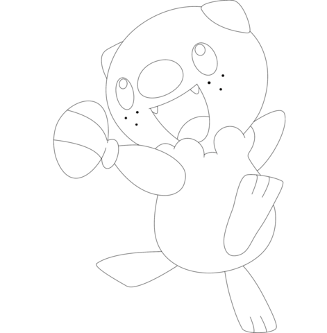 Oshawott Coloring Page Pokemon Coloring Pages Coloring Pages Free Coloring Pages
