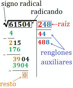 8cd98c869 partes de una raíz cuadrada Raiz Cuadrada