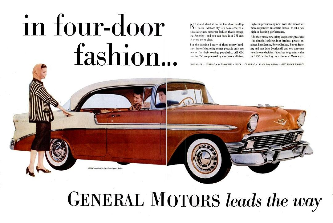 Gm Life 6 Feb 1956 Automobile Advertising Chevrolet Chevrolet Corvair