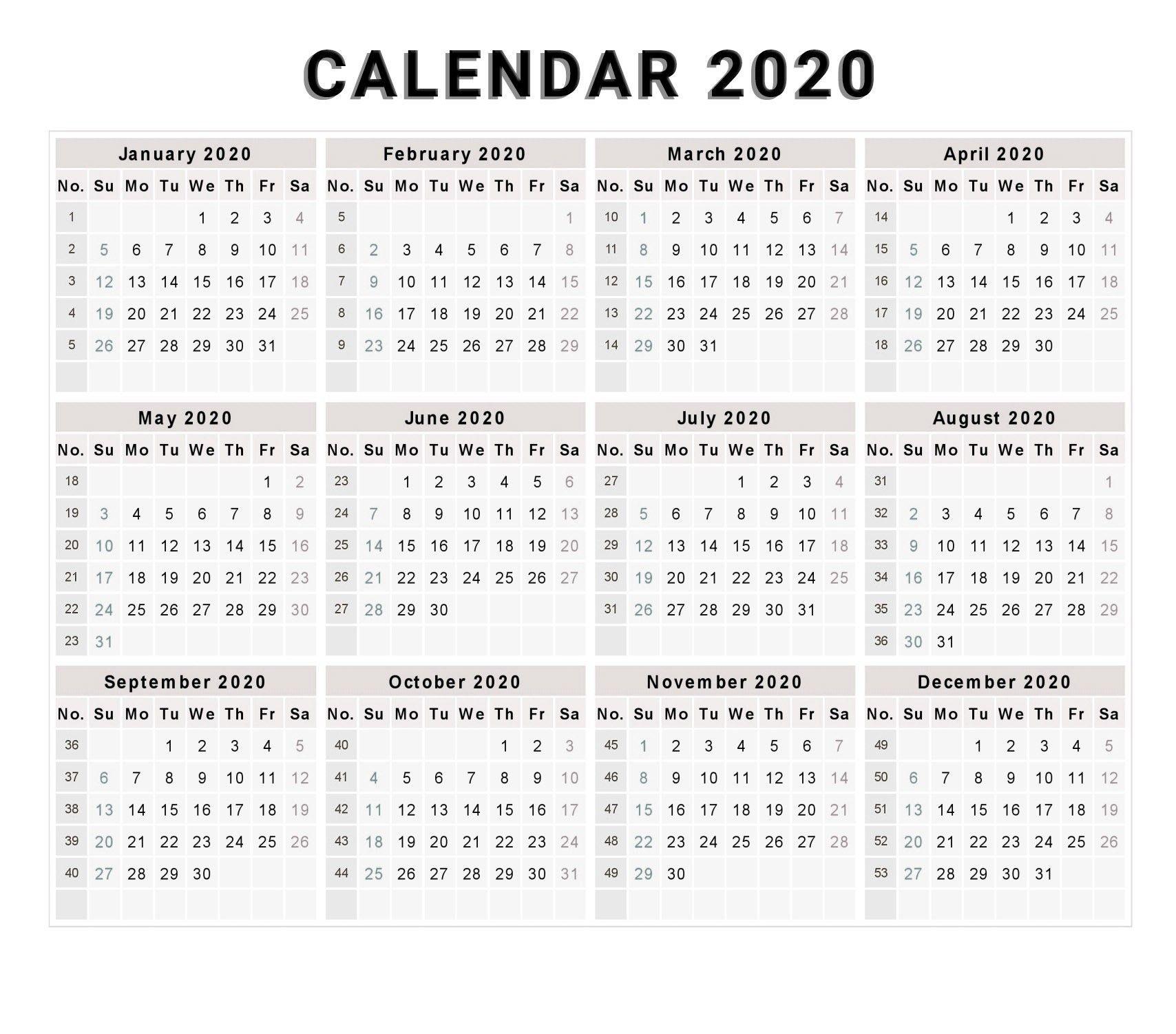 Lovely Printable Calendar 2020 Free Printable Calendar Templates