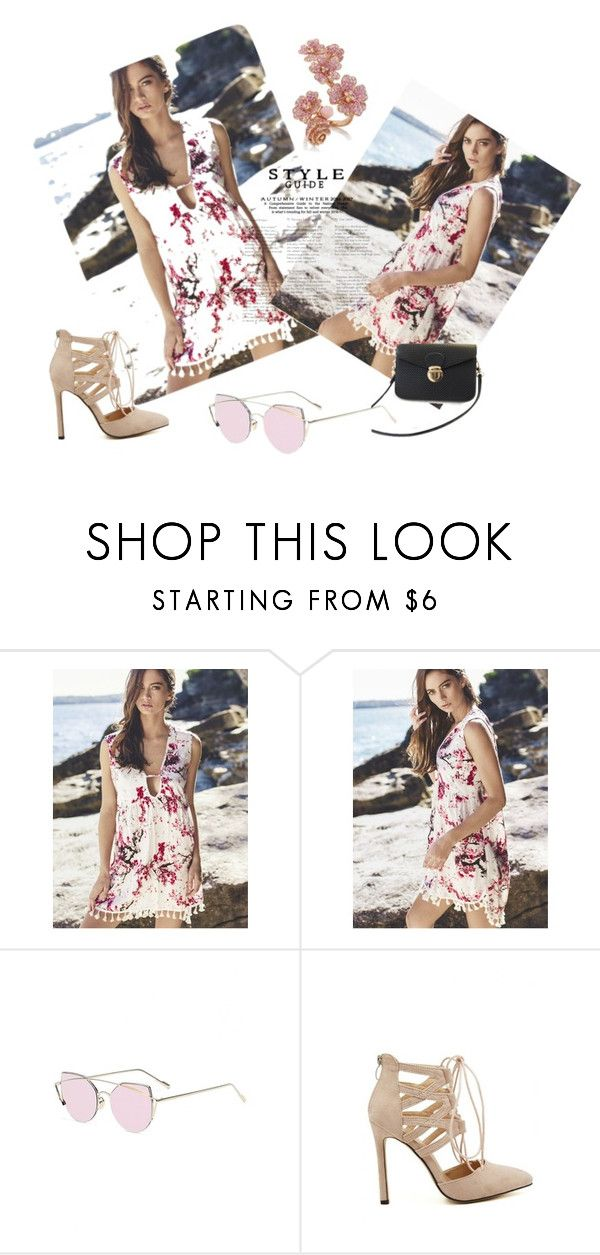 """""""beach day"""" by streili ❤ liked on Polyvore featuring Spring, dress, beach, Diva and streili"""
