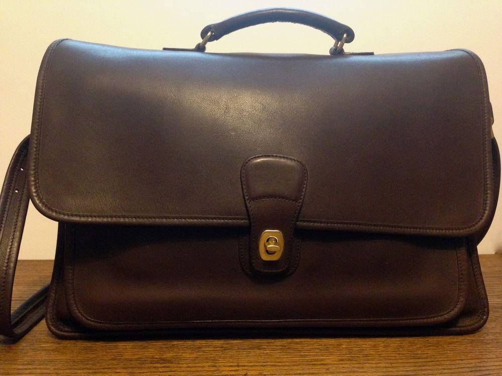 Coach briefcase metropolitan messenger laptop business bag brown leather  coach businesscase jpg 1000x750 Leather sling bag 5b395172ec