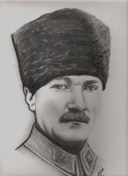 Karakalem Portre Resimler Ataturk Cizimi Portre Cizim Kara Kalem Portre