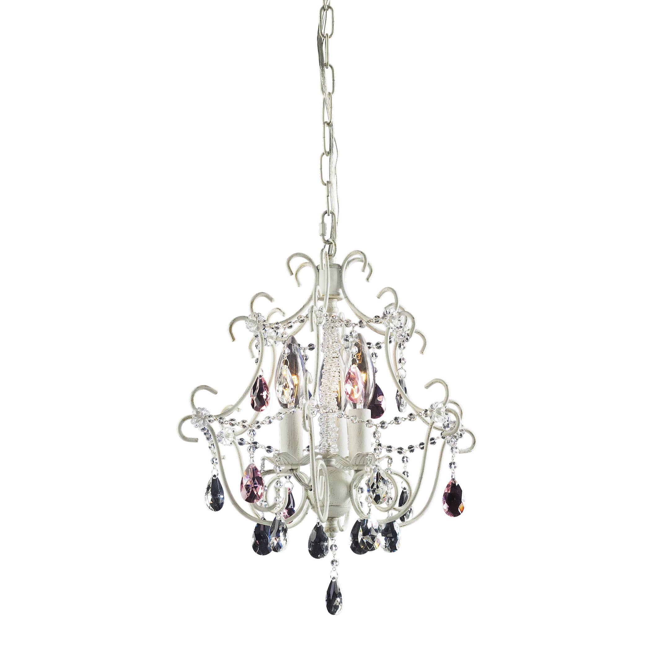 Elise 3 Light Chandelier In Antique White