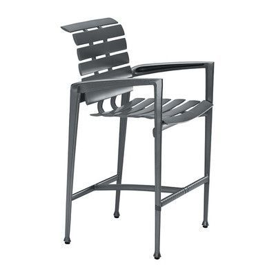 "Tropitone Veer 28"" Bar Stool Frame Finish: Graphite"