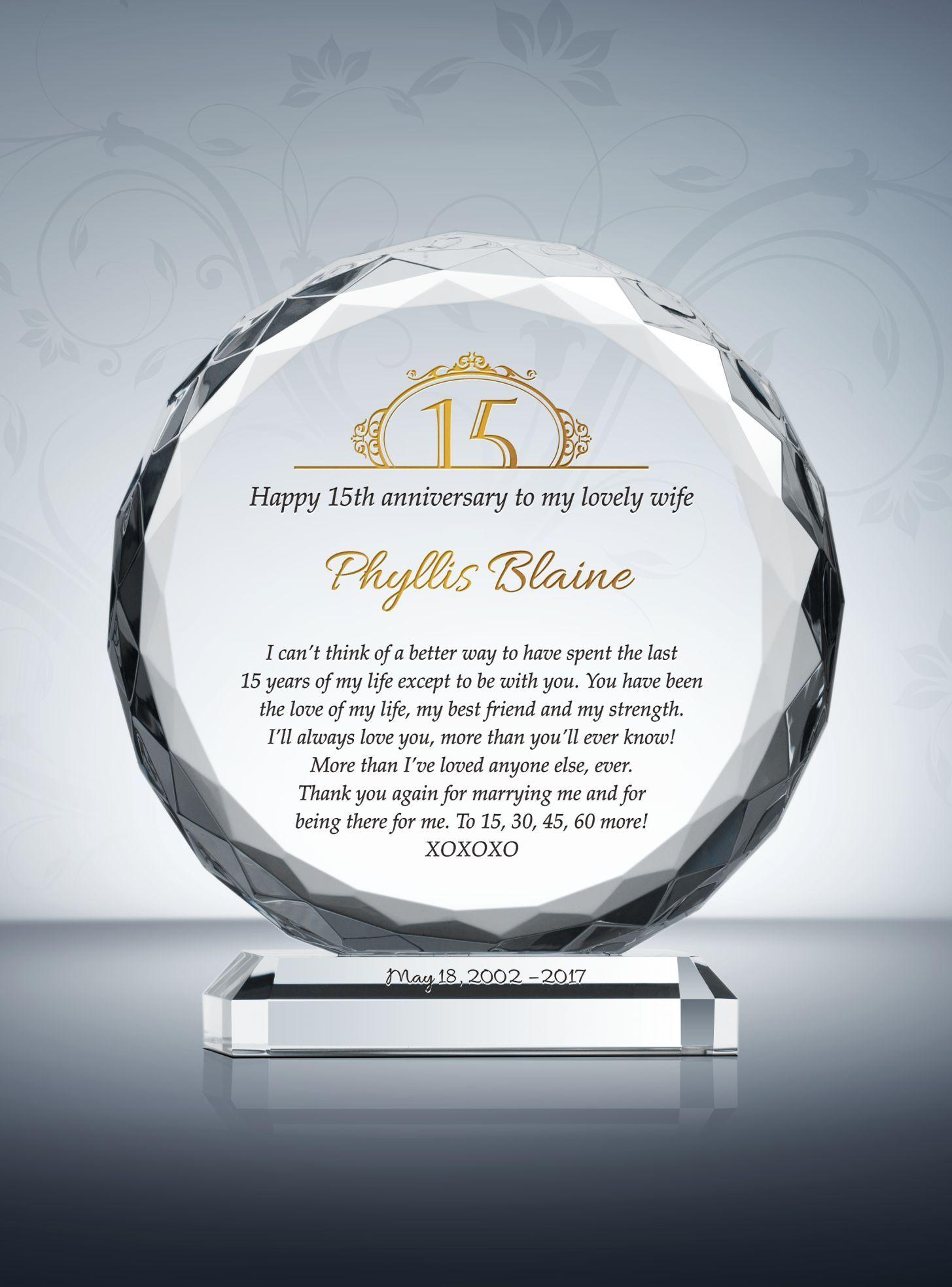 15th (Crystal) Wedding Anniversary Gifts Nursing school