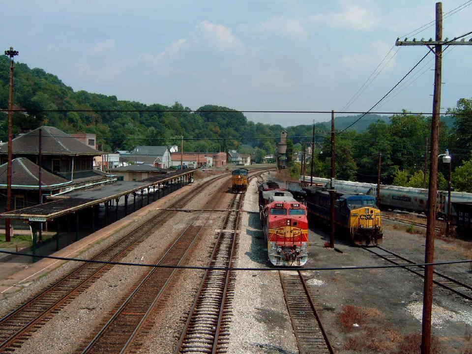 Ronceverte, WV :CSX train station  This is the back view of