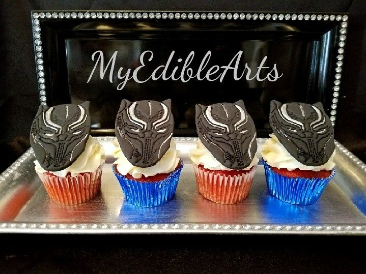 Black Panther Cupcakes Cookies Cake Pops Cupcakes And