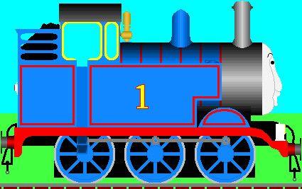 Side View Model For 3d Thomas Train Cake Thomas The Train Train Cartoon Thomas