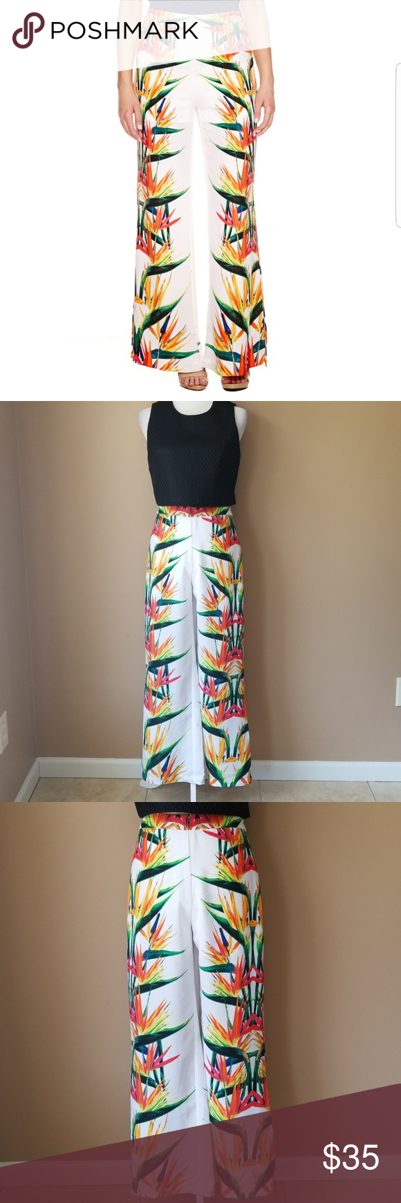 Hp bisou bisou tropical pants girly zip and conditioning