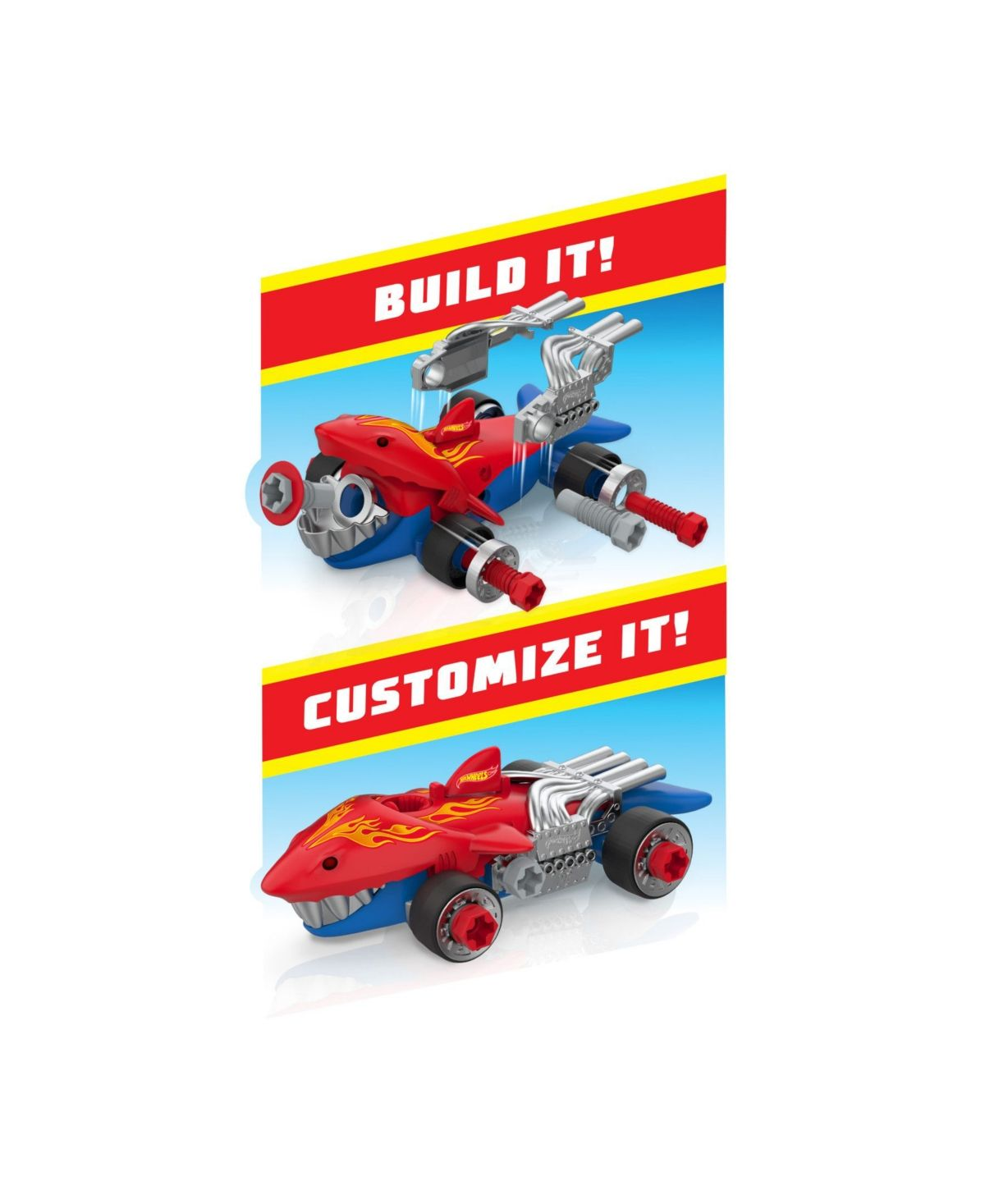 Ready, set, race kids will love getting creative by customizing their own winning race car with the hot wheels engines go tool kit. This set is packed with 29 play tools and parts that allow kids to build, tune, and customize their very own hot wheels race car.