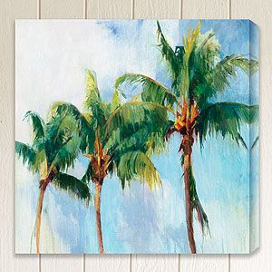 This Would Look So Good On The Baby Blue Wall In The Hallway Palm Trees Painting Outdoor Wall Art Outdoor Canvas
