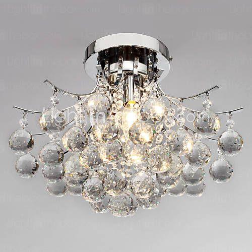Max 40W Takplafond , Moderne / Nutidig Krom Trekk for Krystall / Mini Stil Metall Stue / Soverom / Spisestue / Leserom/Kontor 218363 2016 – kr.964