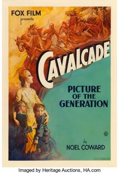 Movie Posters Academy Award Winners Cavalcade Fox 1933 One