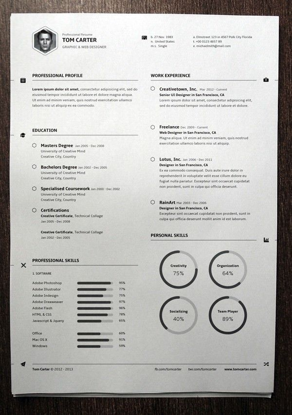 Simple Resume Template vol3 , Mac Resume Template u2013 Great for More - mac resume template