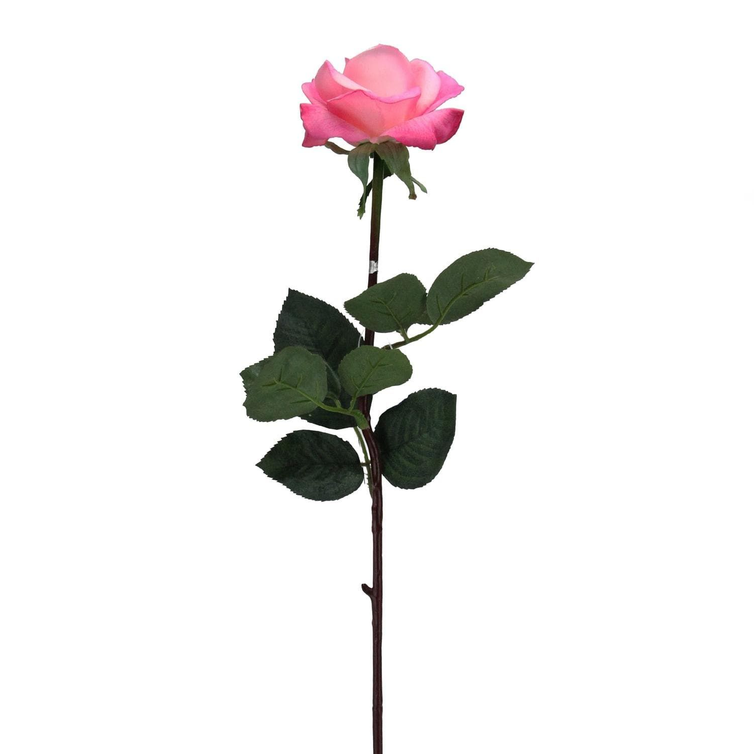 Allstate 27 Pink Colored Long Stem Rose Artificial Floral Craft Pick