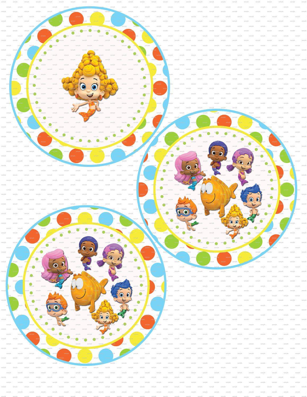 free printable bubble guppies party supplies birthday ideas
