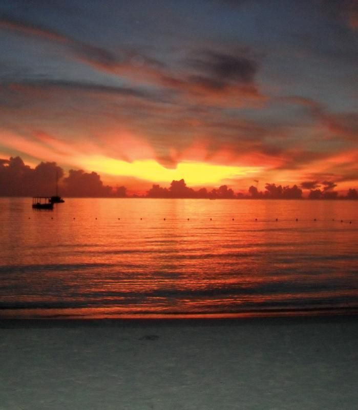 Negril, Jamaica - famous for sunsets. Imagine that fiery sky in your wedding photos!