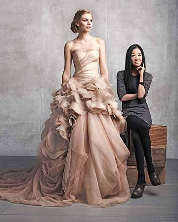 Vera Wang (Dusty-Pink) Organza Ball Gown #112812 The Dusty