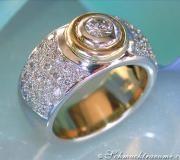 Bicolor Diamond Solitaire Ring image