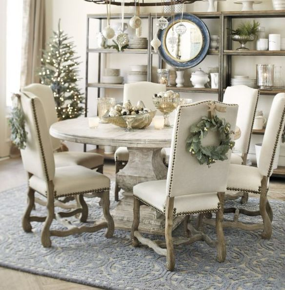 Dining Chairs Dovetail Linen Blend Oatmeal Gray Linen