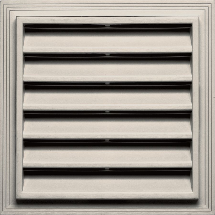 Builders Edge 12 In X 12 In Almond Square Vinyl Gable Vent Gable Vents Builders Edge Wall Vents