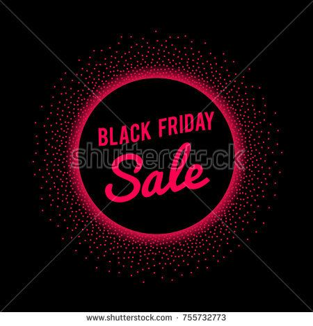 Black-Friday-Sale Banner with red text signage in round border - sale tag template