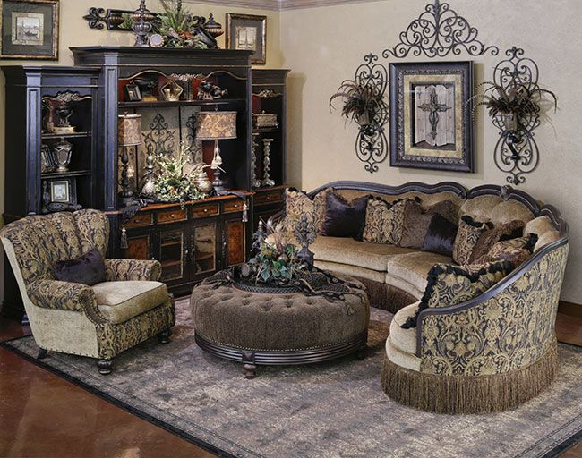 Gigi Raquelle Sectional With Images Tuscan Decorating Living Room Tuscan Living Rooms Tuscany Decor