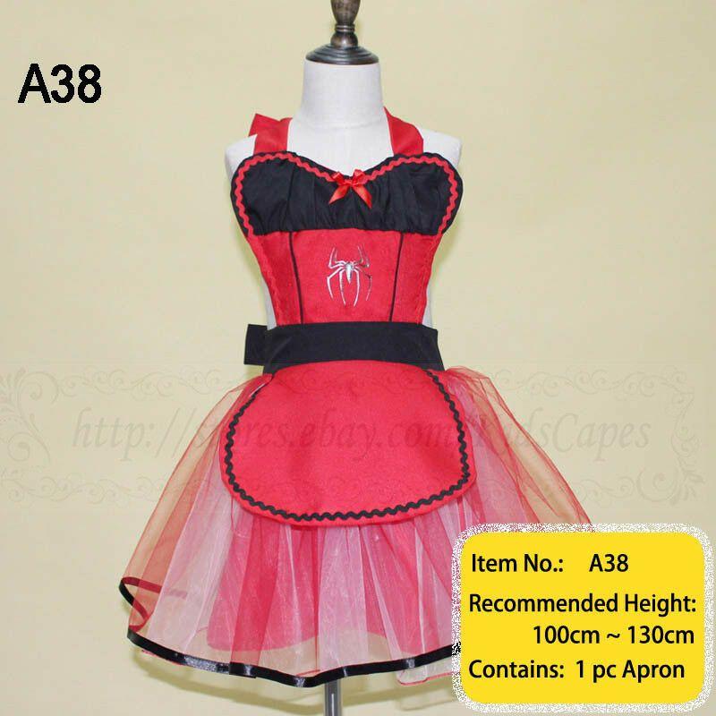 8daae5a11564b Kids Superhero Costume Aprons Halloween Cosplay Party Fancy Dress up ...