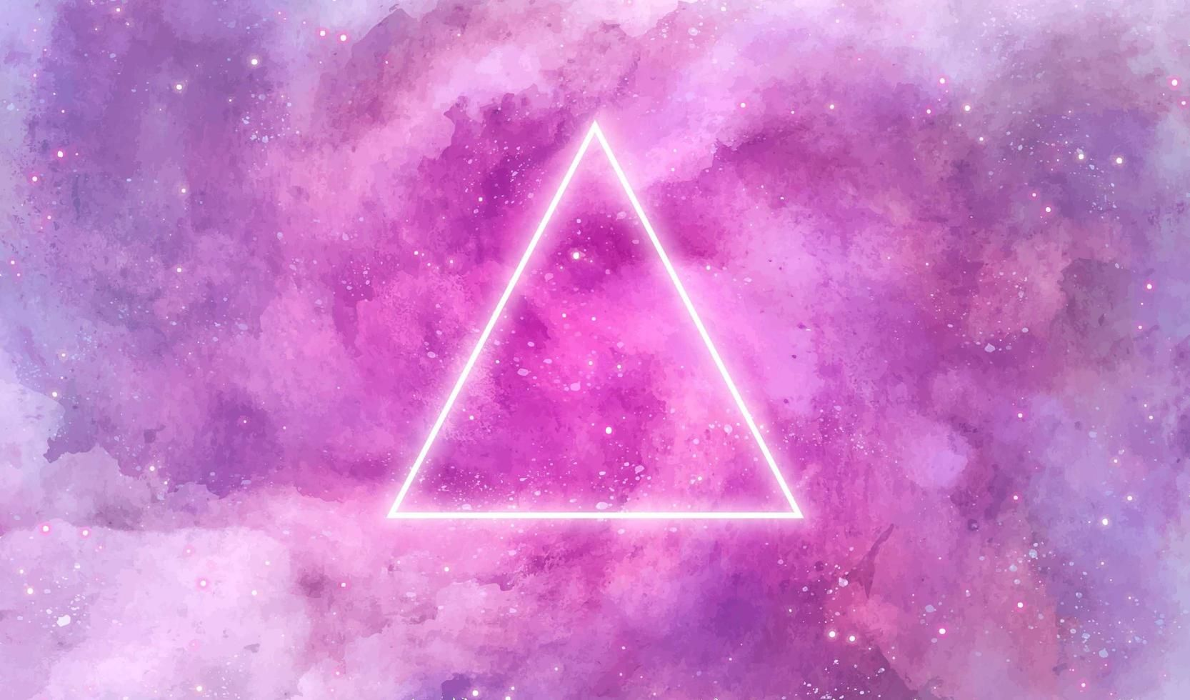 Galaxy Watercolor Texture With Neon Triangle In 2021 Watercolor Galaxy Galaxy Background Glowing Background