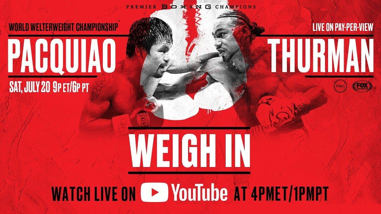 Manny Pacquiao vs Thurman Live Stream HD Fox Sports