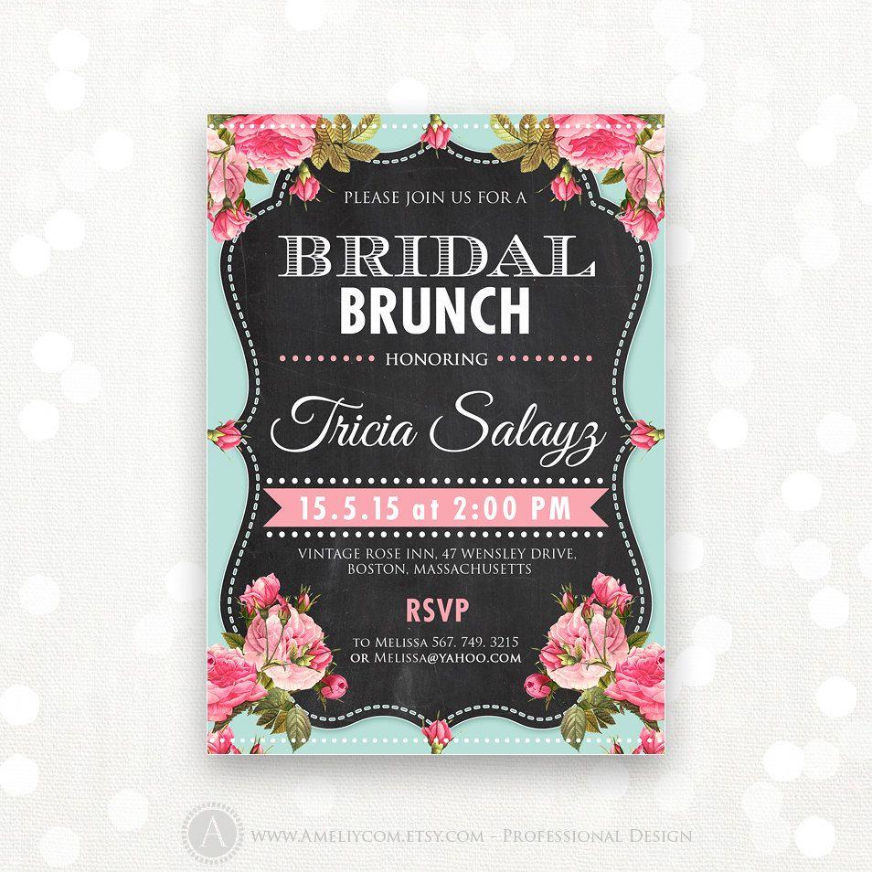 Printable Bridal Shower Invitation Bridal Brunch Bridal Tea Etsy Bridal Tea Party Bridal Tea Party Invitations Bridal Shower Invitations Printable