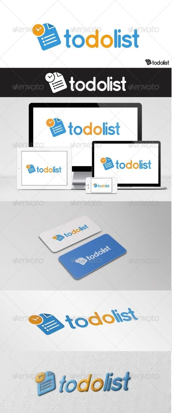 to do list is a professional clean and elegant logo for computer