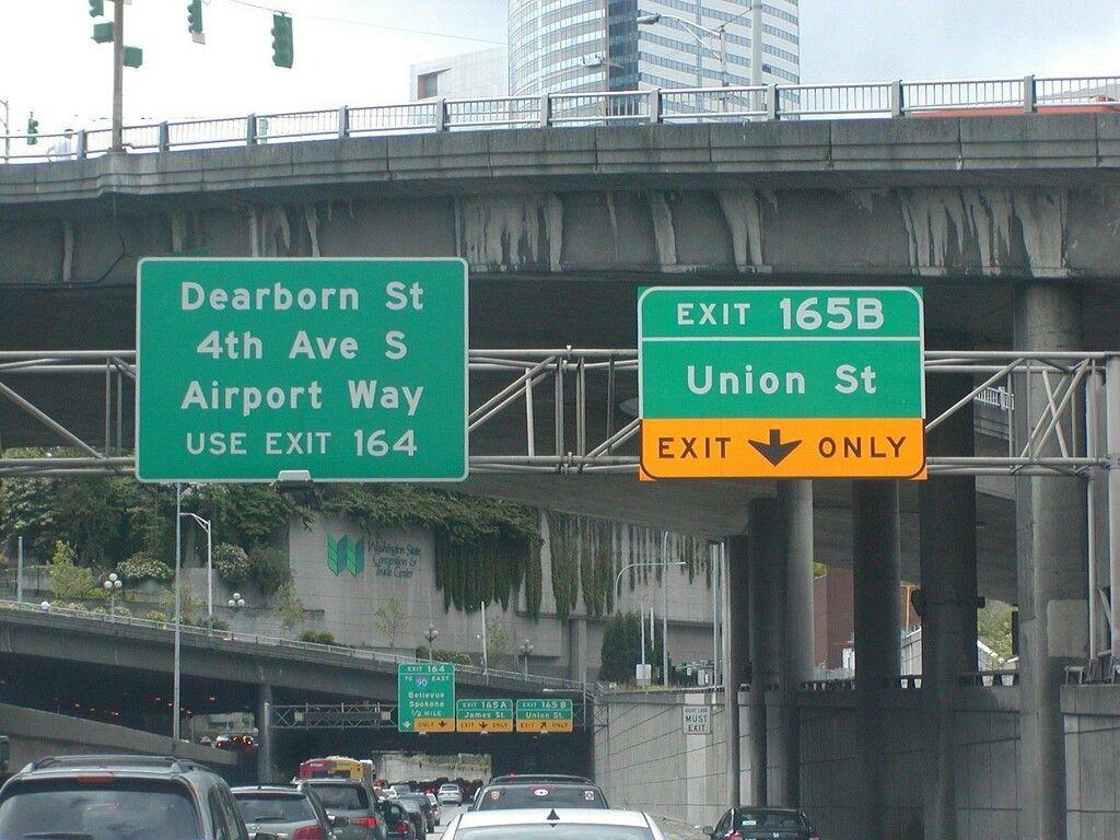 I5 exit 165b union st seattle exits s dearborn st4th
