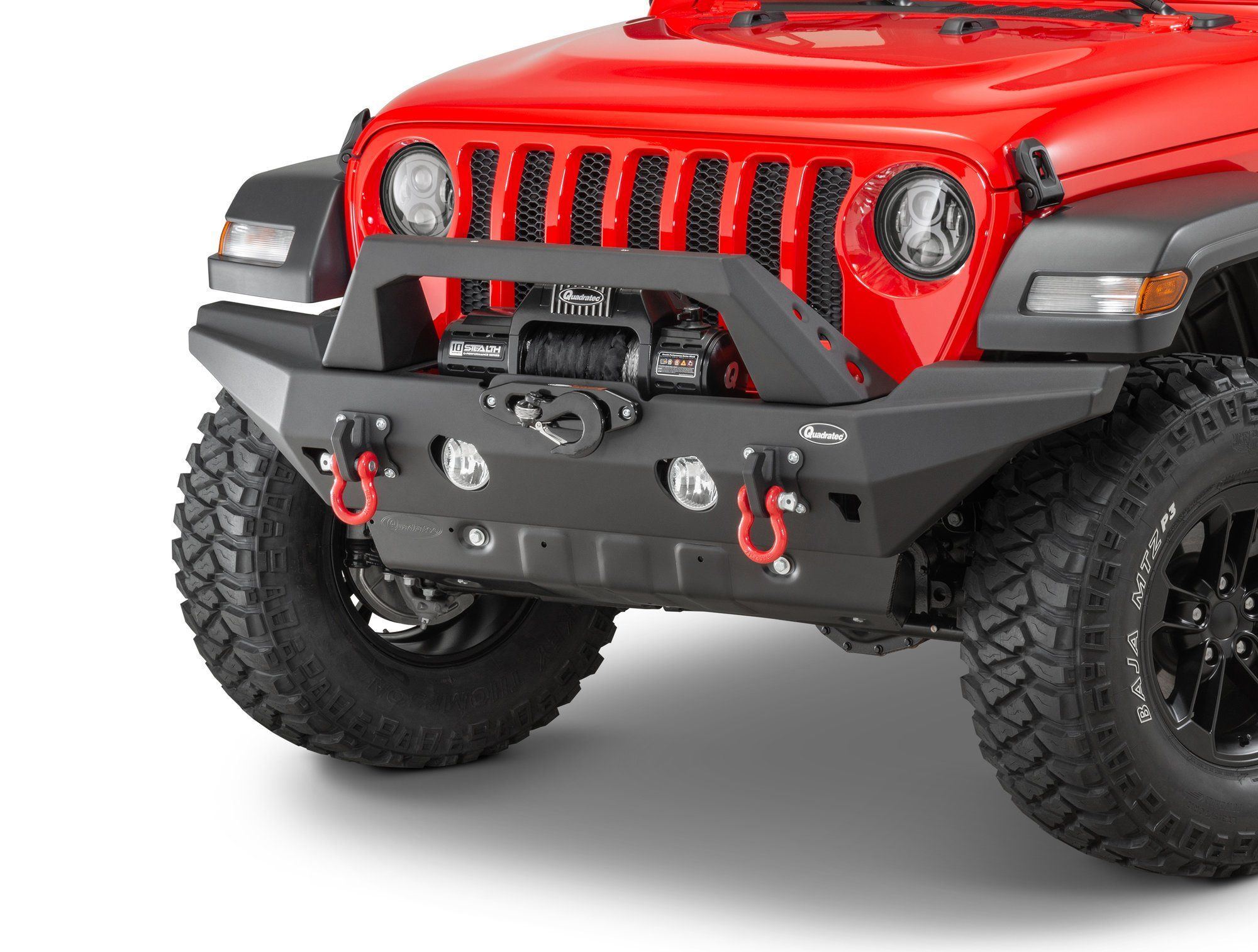 Aluminum Brute Strength Winch Bumper For 18 20 Jeep Wrangler Jl