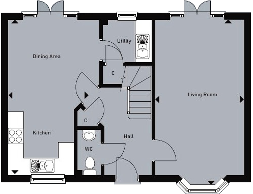 Double Fronted House Designs