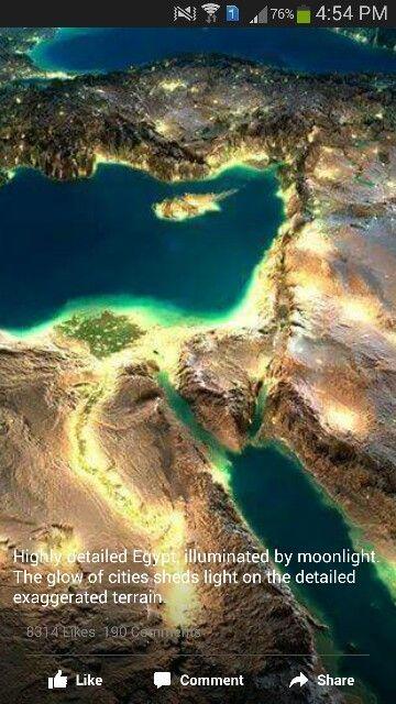 مصر البحر الأبيض البحر الأحمر نهر النيل والدلتا Beautiful Places Egypt Terrain