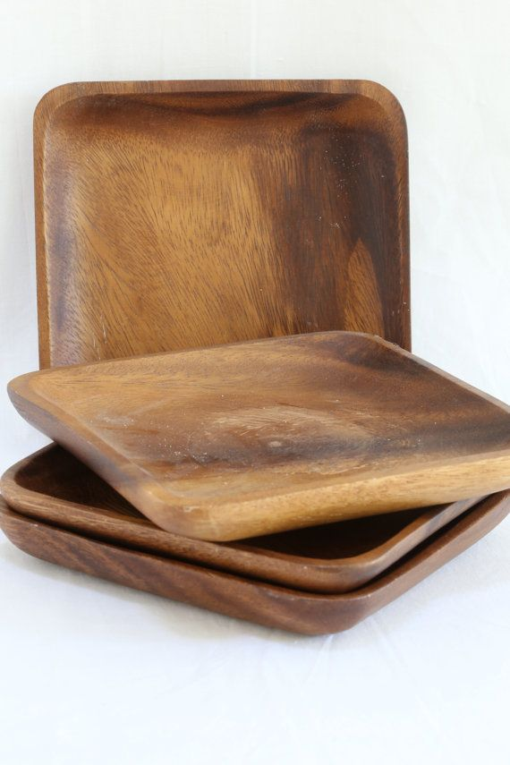 Square Wood Plates by kluttercompany on Etsy & Square Wood Plates | Squares and Woods