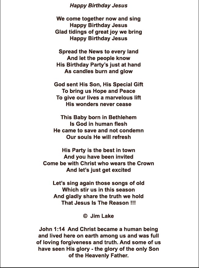 Happy Birthday Jesus Poem | Christmas decor and ideas | Pinterest ...