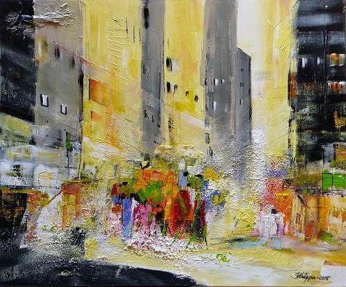 """Philippin, Inge, """"Downtown Manhattan 2"""" (16) Mit einem Klick auf """"Als Kunstkarte…"""