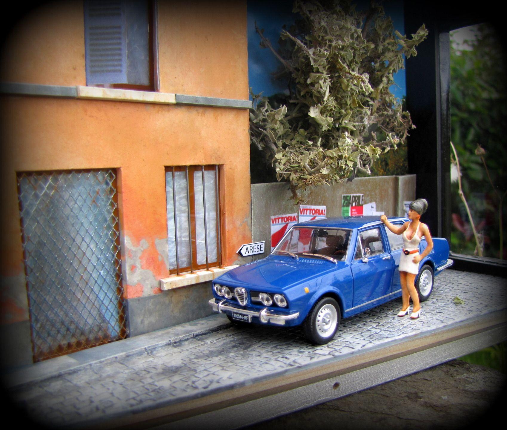 Vitrine Miniature 143 Échelle Voiture Déco Par Alfetta Alfa Romeo lF3TcJK1