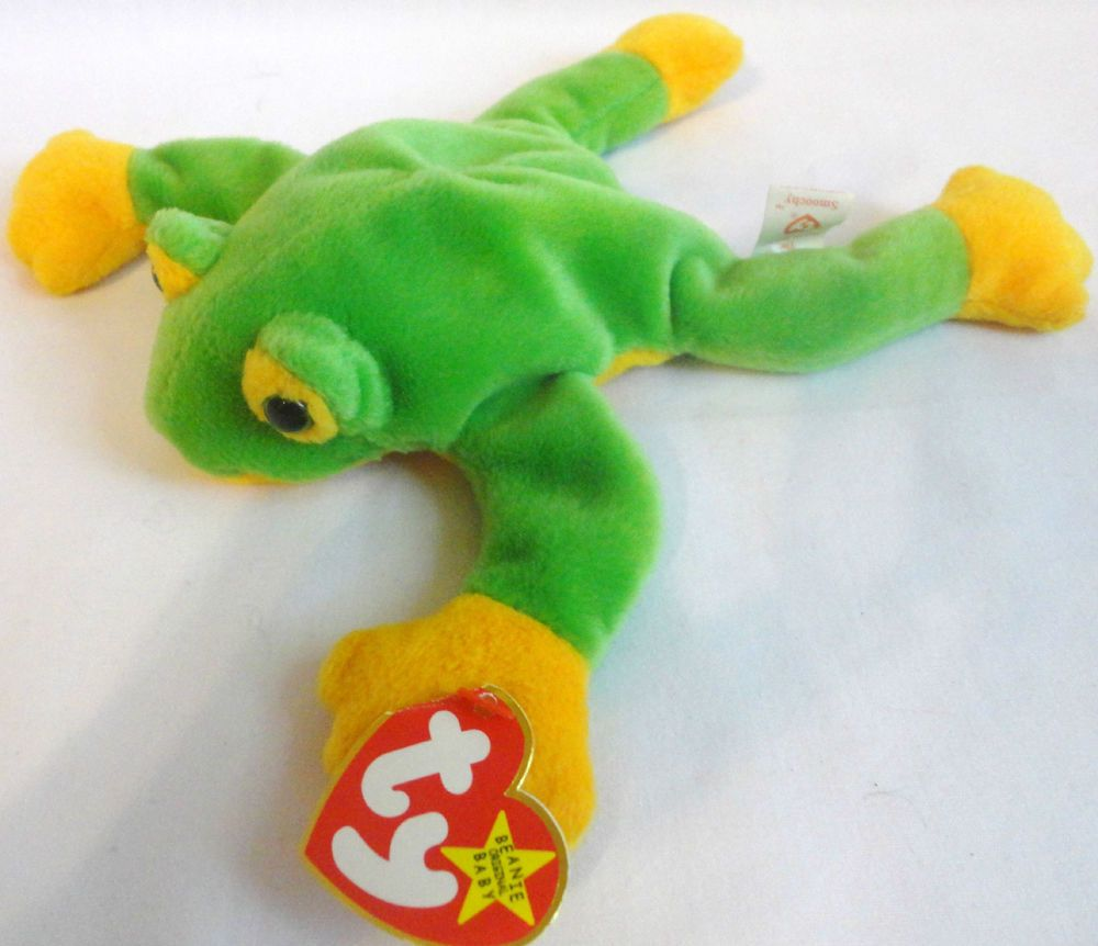e01477187f0 Ty Beanie Baby Smoochy The Frog Stuffed Animal Toy Beanbag New w Tags  Retired  Ty